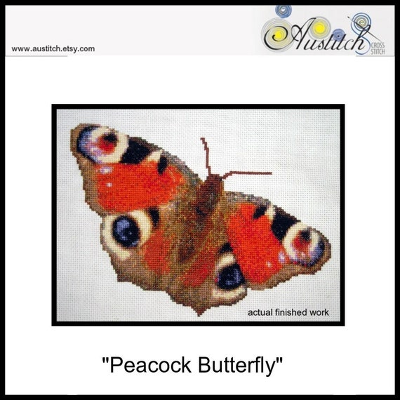 Peacock Butterfly - Cross Stitch PDF Pattern