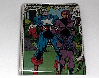 Sewn Duct Tape Comic Book Wallet - Captain America Design 12