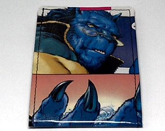 Sewn Duct Tape Comic Book Wallet - X-men's Beast Design 2