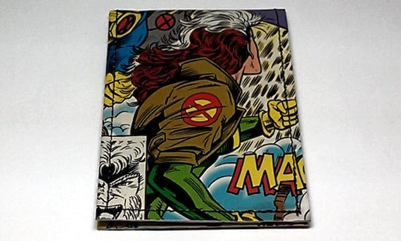 Sewn Duct Tape Comic Book Wallet - X-Men's Rogue and Friends