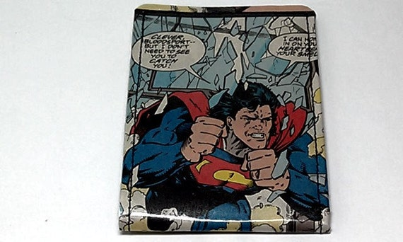 Sewn Duct Tape Comic Book Wallet - Superman Design 12