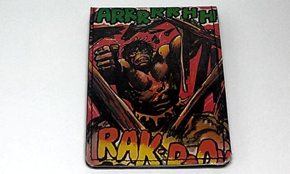 Sewn Duct Tape Comic Book Wallet - Vintage Incredible Hulk Design 10