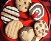 Felt Play Food  Cookies  Variety Pack