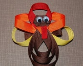 Lily Bug Turkey GOBBLE GOBBLE Hair Clip
