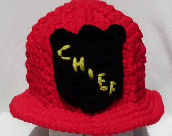 Fireman Firefighter Helmet Baby Hat Toy or Photography Prop