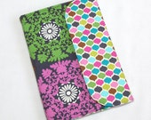 Lace Medallions on Gray MADE TO ORDER eReader Cover Book Style Case for Kindle Nook Kobo iRiver Tablets