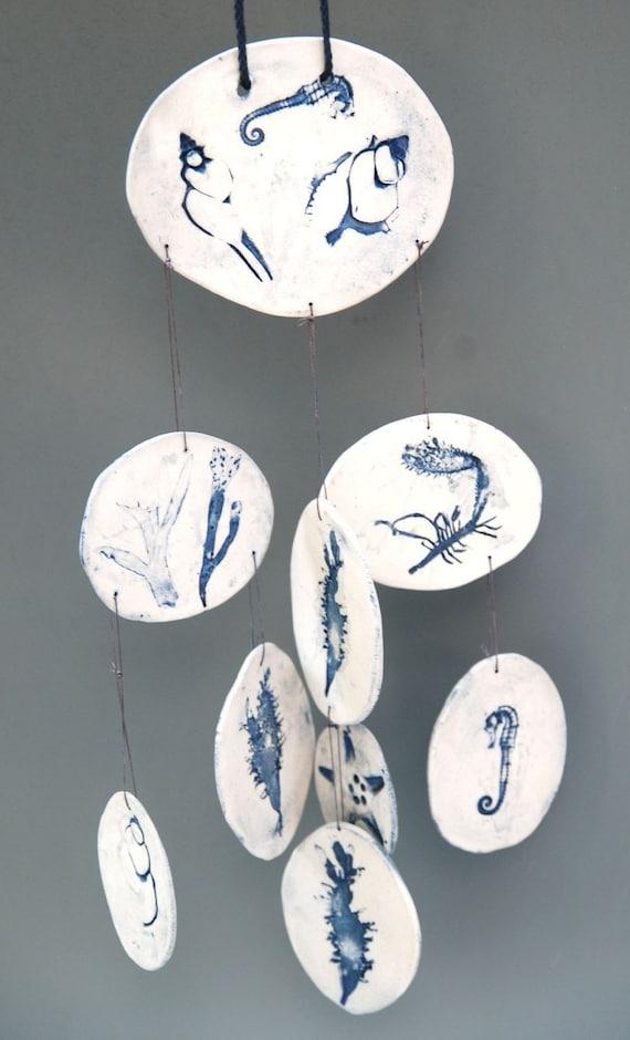 Blue Porcelain Ocean Chime
