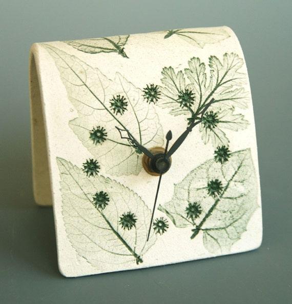 Green Desk Clock