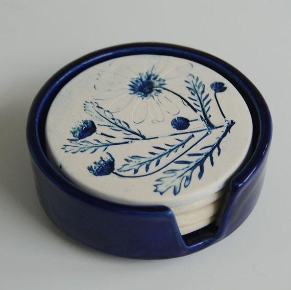 Porcelain Daisy Coasters