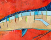 Marlin Canvas Print by Jennifer Mercede 12X36