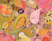 Buta Paisley Canvas Print by Jennifer Mercede 14X14