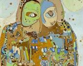 You Who Canvas Print by Jennifer Mercede 24X24