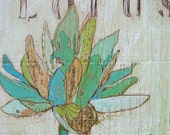 Lotus Teal Canvas Print by Jennifer Mercede 24X24