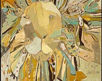 Scot Lion Paper Print by Jennifer Mercede 14X11