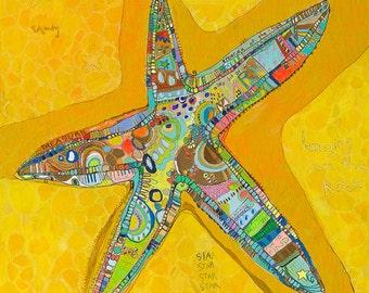 Starfish Canvas Print by Jennifer Mercede 24X24