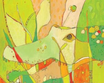 Mister Gator Canvas Print by Jennifer Mercede  14X14