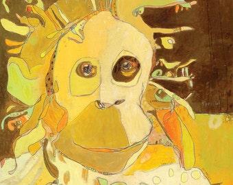 Monkey Do Do Do Canvas Print by Jennifer Mercede  14X14