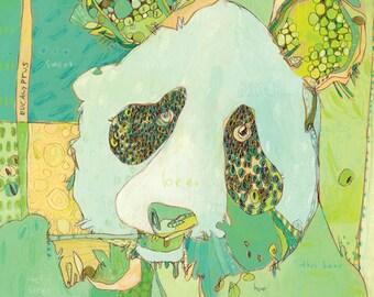 Pah Panda Canvas Print by Jennifer Mercede  14X14