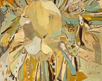 Scot Lion Canvas Print by Jennifer Mercede 24X24
