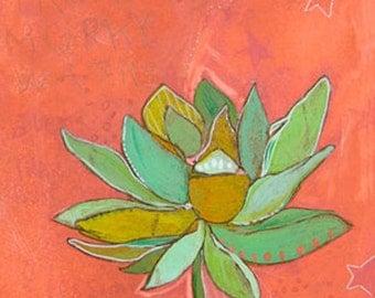Lotus Murky Canvas Print by Jennifer Mercede 24X24