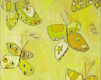 A Few Fly By  Butterfly Paper Print by Jennifer Mercede 14X11