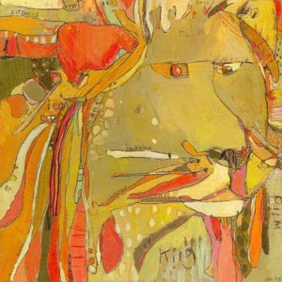 Rasp Lion canvas reproduction