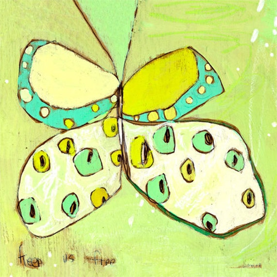 Snowfly Butterfly Canvas Print by Jennifer Mercede 21X21