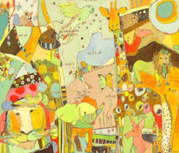 Animal Kingdom Placemat by Jennifer Mercede