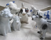 Cow Photography Still Life Photo Kitchen Art Fun Photograph Blue and White Cow Creamer Photo 5x7 inch Print And They Sang All Day