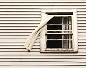 White Decor, Rustic, Geometric, Farmhouse Photography, Window, Black and White, Lines - 5x7 inch Print, Fly Through The Window