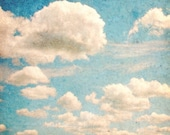 Blue Home Decor Nature Photography Cloud Art Whimsical Photograph Sky Photo Fine Art 5x5 Inch Photography Print Whimsy