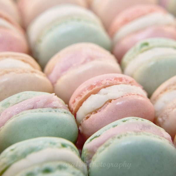 Pastel Color French Macarons Photo Food by ara133photography