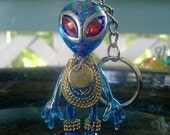 Bejeweled Blue Alien - Each one is DIFFERENT