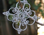 Quilled Snowflake Ornament - set of 4