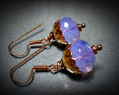 Crystal and Copper Earrings