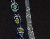 Turquoise Daisy Millefiore Bookmark