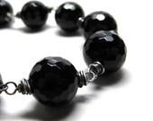 Black bracelet black onyx bracelet, Putting on the Ritz