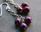 SALE - 50% OFF  On The Vine - Sterling Silver and Freshwater Pearl Earrings