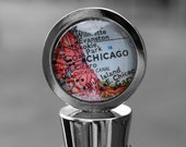 Custom Map Wine Stopper - You Pick City - Original Map Bottle Stopper Gift - As Seen in Capital Style