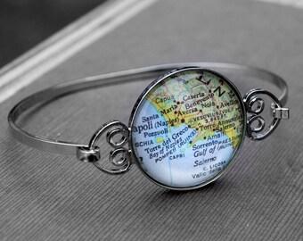 Amalfi Coast Map Bangle Bracelet