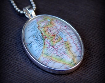 Israel Map Necklace