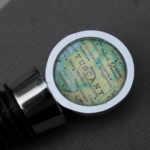 Tuscany Florence Italy - Wine Bottle Stopper - Vintage Map - Great for Destination Weddings