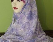 Shayla Hijab Lilac Floral Large Scarf