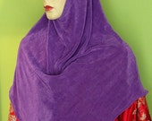 Malay Malasian style one piece Hijab scarf in purple