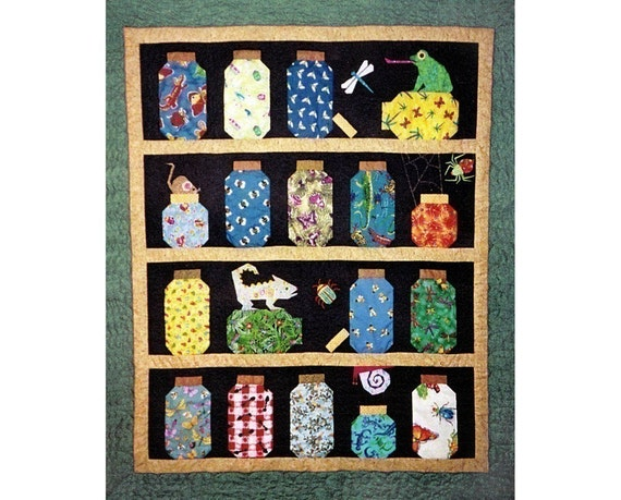 Escaping Bugs Bottle Quilt Pattern, PDF