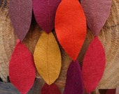 fall leaves felt garland