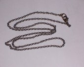Antique Finish Brass Cable Chain 20 inches - ready for Pendant