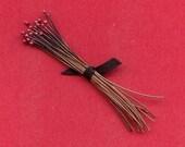 Handmade Rose Copper Ball End Head Pins - 2 Inch 24 Gauge 24 Pc - Free Ship