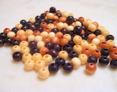 130 tiny wooden beads-5mm