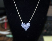 Alexandrite Swarovski Crystal Puffy Heart